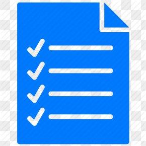 Checklist Icon Blue Blue, Checklist, Document - Document PNG