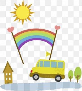 Green Bus - Bus Rainbow Flag Clip Art PNG