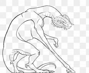Dragon Line Art - Carnivora Line Art Figure Drawing Cartoon PNG