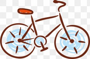 Cartoon Bicycle Clip - Bicycle Wheel PNG