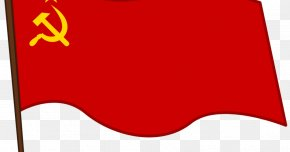 Soviet Union - Flag Of The Soviet Union Communist Party Of The Soviet Union Hammer And Sickle PNG