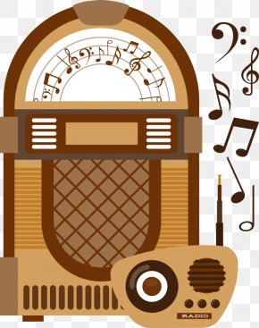 Vector Radio With Recorder - Jukebox Stock Photography Icon PNG