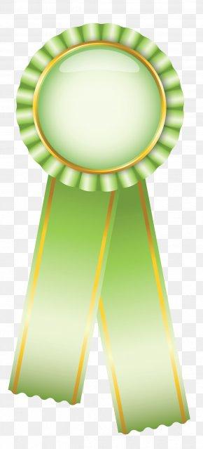 Rosette Ribbon Green Clipart Picture - Blue Ribbon Rosette Clip Art PNG