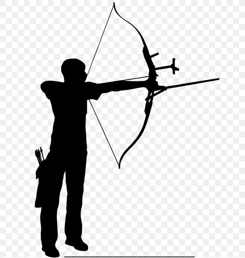 Bow And Arrow Archery Silhouette Clip Art, PNG, 768x862px, Archery, Arm, Black And White, Bow, Bow And Arrow Download Free