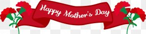 Red Banner.Others - Happy Mothers Day With Carnation PNG