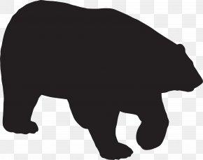 Bear Paw Clip Art Silhouette - Polar Bear Clip Art Silhouette PNG