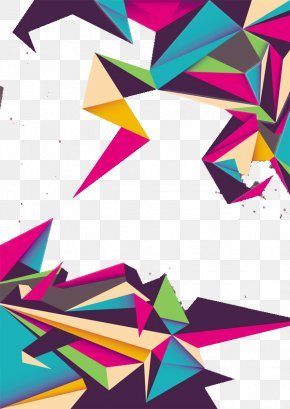 Nice Triangle - Colorful Origami Adobe Illustrator PNG