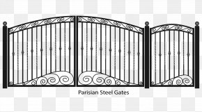 Fancy Gate Clipart - Fence Gate Wrought Iron PNG