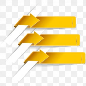 Yellow Arrow Label - Arrow Euclidean Vector Wallpaper PNG