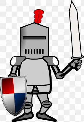 Vector Warrior - Middle Ages Knight Plate Armour Clip Art PNG