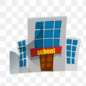 Vector Cartoon School - School Cartoon PNG