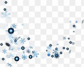 Blue Snowflake Shines - Blue Snowflake PNG