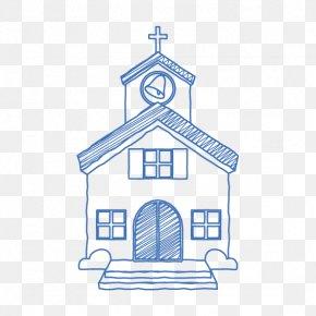 Church Element Vector - Chapel Church Rubber Stamp Wedding PNG