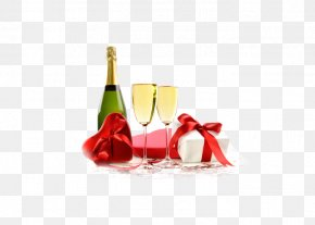 Champagne - Champagne Sparkling Wine Valentines Day Wine Glass PNG