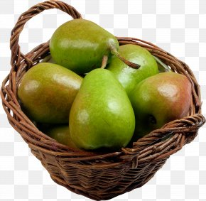 Green Pears In Basket Image - Pear Clip Art PNG