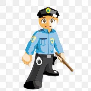 Police With Batons - Police Cartoon Security Guard Career PNG