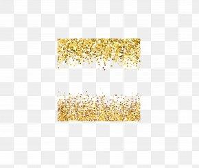 Gold Powder Vector - Light Particle Euclidean Vector PNG