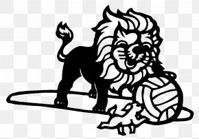 Hand-painted Lines Lion Playing Ball - Pekingese Shih Tzu Lion Papercutting PNG