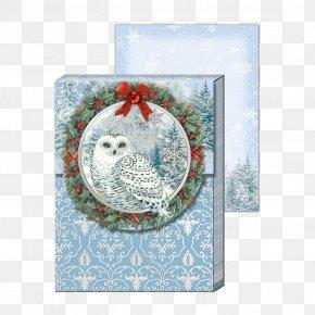 Christmas - Christmas Holiday Snowy Owl Gift PNG