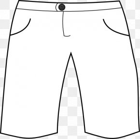 Shorts Cliparts - T-shirt Shorts Pants White Clip Art PNG