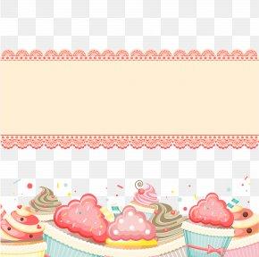Decorative Birthday Card Vector Illustration - Birthday Cake Cupcake Greeting Card PNG