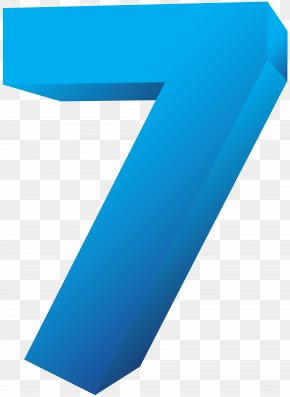 Blue Number Seven Transparent Clip Art Image - Cartoon Numerical Digit Typeface PNG