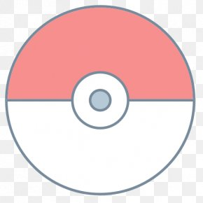 Pokeball - Circle Compact Disc Area PNG