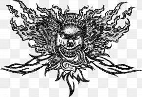 Devil Head Type - Black And White Visual Arts Adobe Illustrator Vector Packs PNG