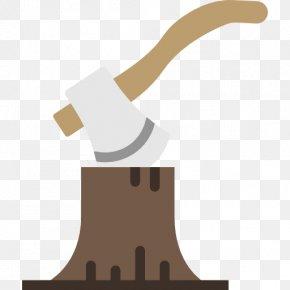 Cut Stump Ax - Felling Cartoon Axe PNG