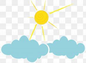 Hand-painted Cute Sun Cloud Vector Illustration PNG