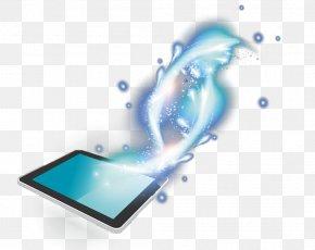 Glowing IPad - Digital Data Download PNG