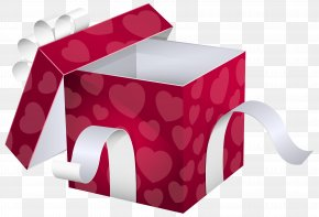 Open Pink Gift Box Clipart Image - Paper Gift Wrapping Box PNG