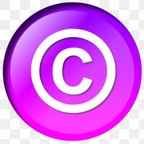 Purple Background - Copyright Symbol Public Domain All Rights Reserved PNG