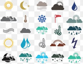Weather Icon - Weather Forecasting Rain Fog Icon PNG