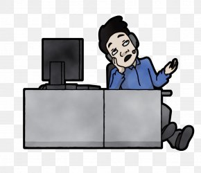 Computer Monitor Accessory Fictional Character - Cartoon Clip Art Job White-collar Worker Fictional Character PNG