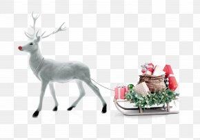 Christmas Snow Deer - Rudolph Reindeer Santa Claus Christmas PNG