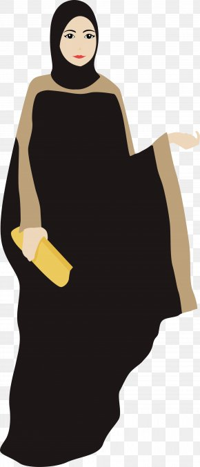 Yellow Muslim Women - Woman Muslim Clip Art PNG