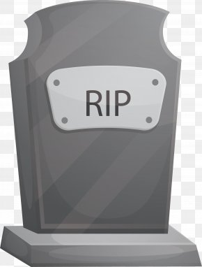 Gray Grave Tombstone - Grave Headstone Khaled Freak Icon PNG