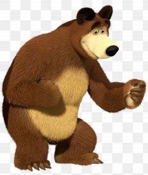 Masha And The Bear Bear Transparent Clip Art Image - Masha And The Bear Kids Games Masha And The Bear Kids Games Clip Art PNG