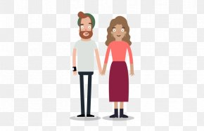 Young Couple - Cartoon Human Behavior Shoulder PNG
