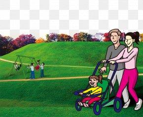 Posters Element Estate Park Lawn - Cartoon Lawn PNG