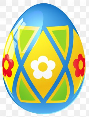 Blue Easter Egg With Flowers Picture - Easter Bunny Easter Egg PNG