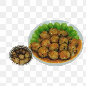 Steamed Pork With Rice Flour Pill - Pakora Meatball Vegetarian Cuisine Steaming PNG