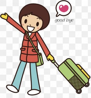 Vector Illustration Cute Characters Goodbye - Cartoon Stock Illustration Illustration PNG