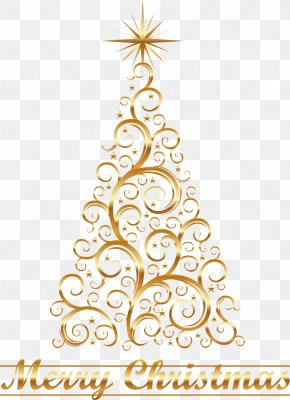 Gold Lace Christmas Tree Stars - Christmas Tree Canvas Christmas Ornament Christmas Decoration PNG