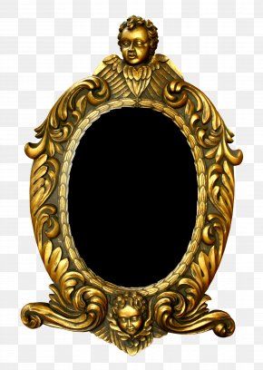 Gold Frame - Picture Frame Mirror Pattern PNG