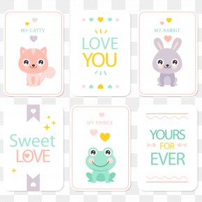 Vector Cute Animal Card PNG