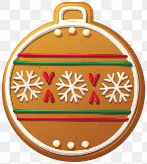Gingerbread Christmas Ball Ornament Clip-Art Image - Christmas Ornament Christmas Decoration Clip Art PNG