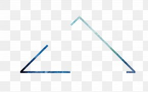 Simple Blue Border Triangle - Triangle Area Pattern PNG