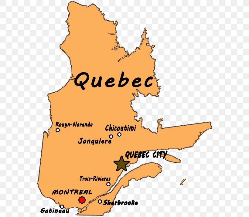Quebec City Montreal Wapakoneta Map Geography Of Quebec Png